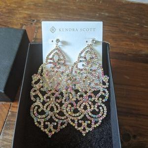 Kendra Scott chandelier earrings w/ pastel stone
